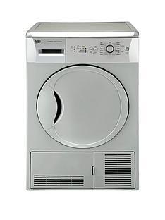 beko-dcu7230s-7kg-load-sensor-condenser-dryer-next-day-delivery-silver