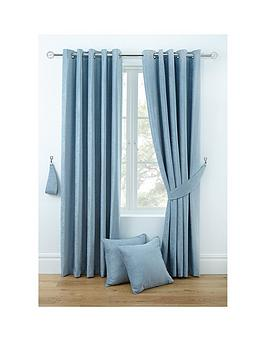 Very Luxury Chenille Lined Eyelet Curtains Picture