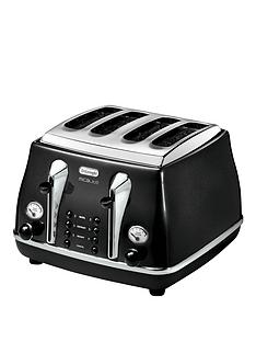 delonghi-ctom4003-1800-watt-micalite-icona-4-slice-toaster-black