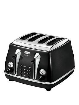 delonghi-ctom4003-1800-watt-micalite-icona-4-slice-toaster-black