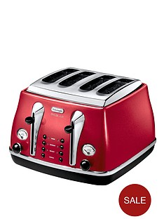 delonghi-ctom4003-1800-watt-micalite-icona-4-slice-toaster-red