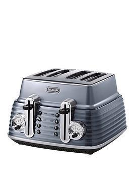 delonghi-scultura-ctz4003gy-4-slice-toaster-gunmetal-grey