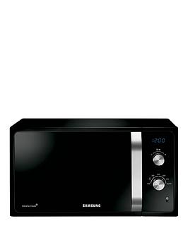samsung-ms23f301eak-23-litre-800-watt-solo-microwave-with-ceramic-enamel-interior-black