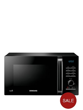 samsung-ms23h3125akeu-23-litre-800-watt-solo-microwave-with-smart-humidity-sensor-technology-and-2-year-samsung-parts-and-labour-warranty-black