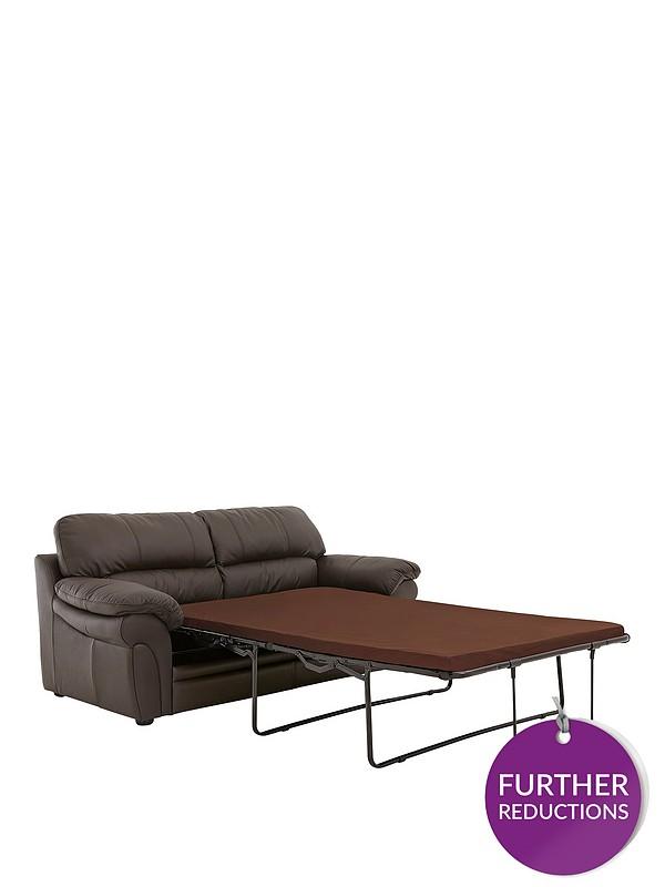 Portland Leather Sofa Bed