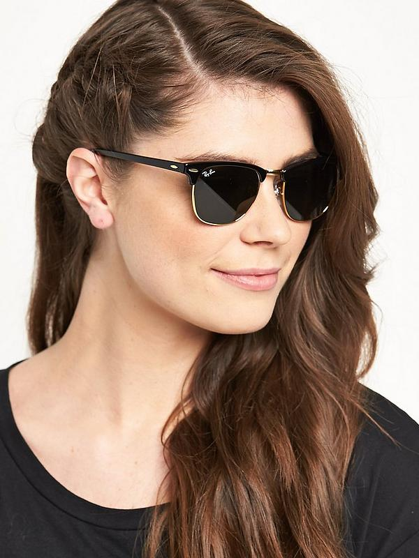 Ray-Ban Clubmaster Sunglasses - Black | littlewoods.com