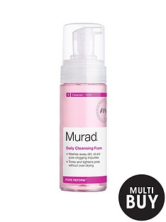 murad-free-gift-pore-reform-daily-cleansing-foam-150mlnbspamp-free-murad-age-reform-exfoliating-cleanser-200ml