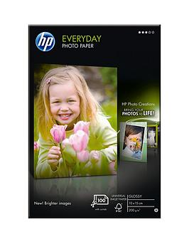 HP  Hp Everyday Glossy Photo Paper - 100 Sheet /10 X 15 Cm (Cr757A)