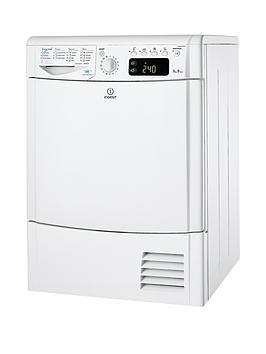 Indesit Ecotime Idce8450Bh 8Kg Load Condenser Dryer  White