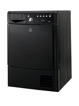 Indesit Ecotime Idce8450Bkh 8Kg Load Condenser Dryer  Black