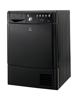 Indesit Indesit Ecotime Idce8450Bkh 8Kg Load Condenser Sensor Dryer - Black Picture