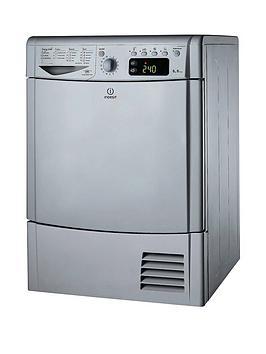 indesit-ecotime-idce8450bsh-8kg-load-condenser-sensor-dryer-silver