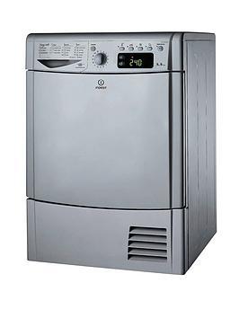 Indesit Ecotime Idce8450Bsh 8Kg Load Condenser Dryer  Silver