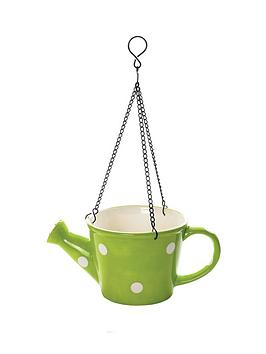 watering-can-bird-feeder-with-chains-green-and-white-spots