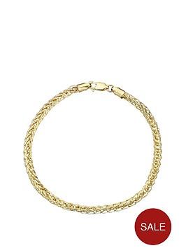 love-gold-9-carat-yellow-gold-fancy-wheatchain-bracelet