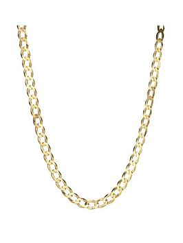 Love GOLD Love Gold 9 Carat Yellow Gold Solid Diamond Cut Curb 20 Inch  ... Picture