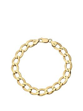 love-gold-9-carat-yellow-gold-solid-diamond-cut-approx-14oz-curb-bracelet-8-inch