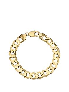 Love GOLD 9 Carat Yellow Gold Approx 1/2oz Solid Diamond-Cut Curb Bracelet