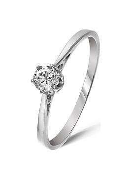 Love DIAMOND Love Diamond 9 Carat White Gold 25Pt Diamond Solitaire Ring Picture