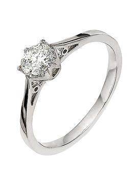 Love DIAMOND Love Diamond 9 Carat White Gold 50Pt Diamond Solitaire Ring Picture