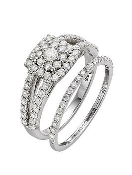 love-diamond-9-carat-white-gold-1-carat-diamond-square-2-piece-bridal-set