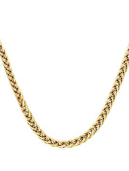 Love GOLD Love Gold 9 Carat Yellow Gold Fancy Wheatchain Chain