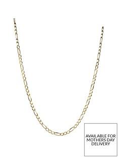 love-gold-9-carat-yellow-gold-solid-diamond-cut-figaro-18-inch-chain