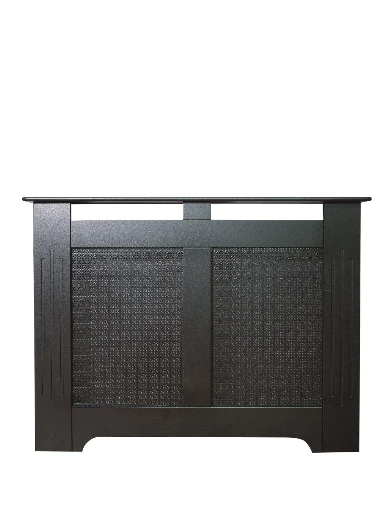 Compare prices for Adam Fire Surrounds 160Cm Black Textured Radiator Cover