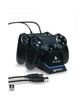 4Gamers   Officially Licensed Ps4 Dual Controller Stand With Twin Usb Charging Cables