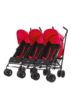 obaby-mercury-triple-stoller-black-and-red