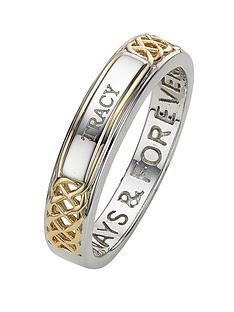 keepsafe-sterling-silver-and-yellow-gold-plated-ladies-personalised-ring-with-inside-message-always-and-forever