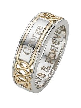 keepsafe-keepsafe-sterling-silver-and-yellow-gold-plated-mens-personalised-ring-with-inside-message-always-and-forever