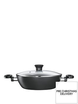 tefal-26cm-kadai-and-glass-lid-black