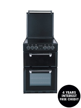 stoves-550e-55cm-double-oven-electric-richmond-mini-range-cooker-black