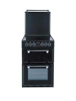 stoves-richmond-mininbsp550e-55cmnbspwide-double-oven-electric-range-cooker-with-optional-connection-black