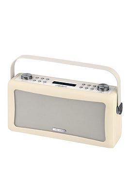 view-quest-hepburn-portable-bluetoothreg-dab-radio-cream