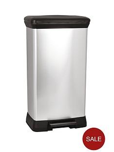 curver-50-litre-deco-bin-silver