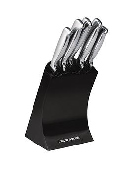 morphy-richards-knife-block-5-piece-black