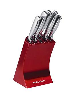 Morphy Richards Knife Block (5Piece)  Red
