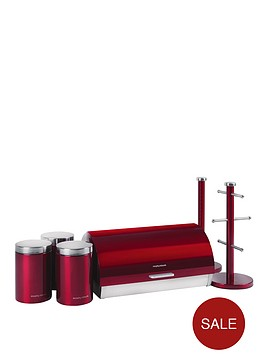 morphy-richards-6-piece-storage-set-red