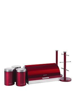 Morphy Richards 6Piece Storage Set  Red