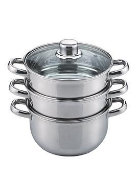 sabichi-essential-stainless-steel-3-tier-18-cm-steamer