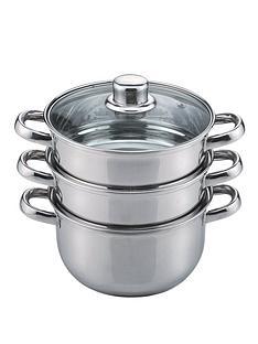 sabichi-stainless-steel-18cm-3-tier-steamer-essentials-range