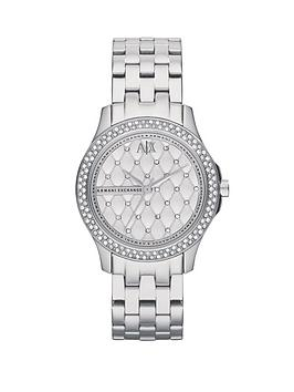 Armani Exchange Silver Dial Stainless Steel Bracelet Ladies Watch