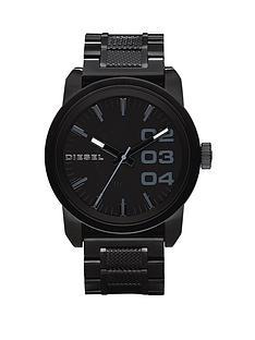 diesel-double-down-46-black-stainless-steel-bracelet-mens-watch