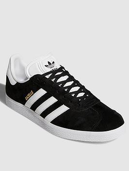 adidas Originals Gazelle OG Trainers - Black White  fea35d67a