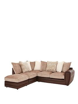 Very Gatsby Left Hand Single Arm Corner Chaise Sofa + Footstool Picture