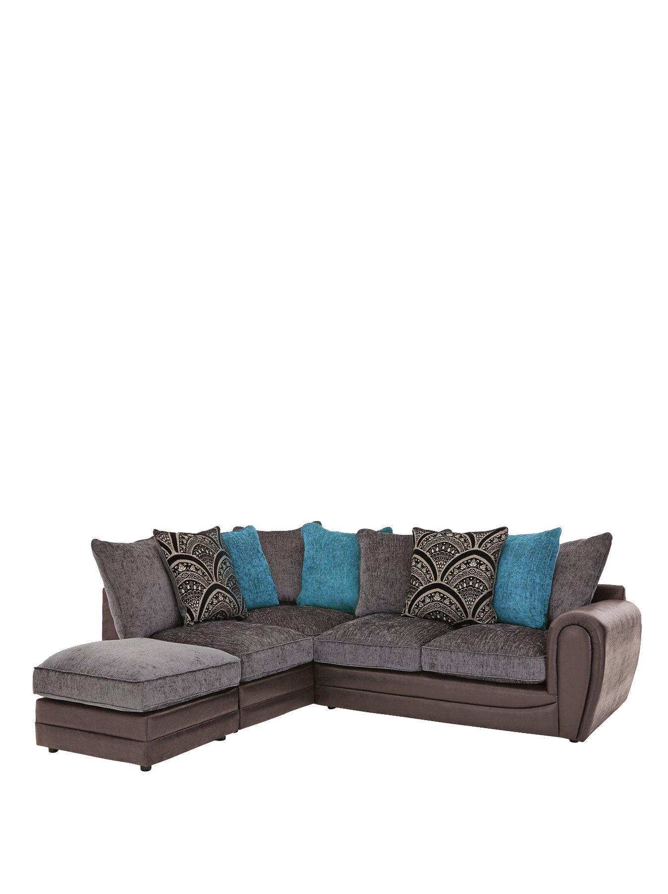 gatsby left hand single arm corner chaise plus footstool