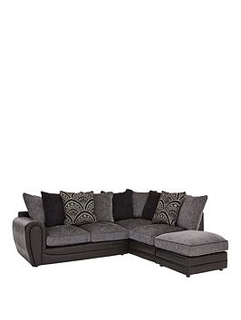 Very Gatsby Right Hand Single Arm Corner Chaise Sofa + Footstool Picture