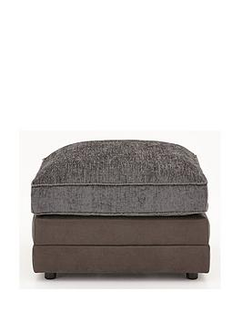 Very Gatsby Chenille And Faux Snakeskin Footstool Picture